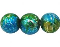 50+ Drawbench / Spray Painted, Round, Green/Yellow/Blue, 8mm